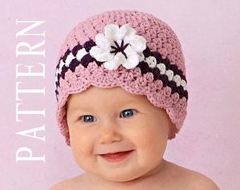 Baby Hat Crochet Pattern Baby Girl Hats Pattern Crochet Bow Etsy