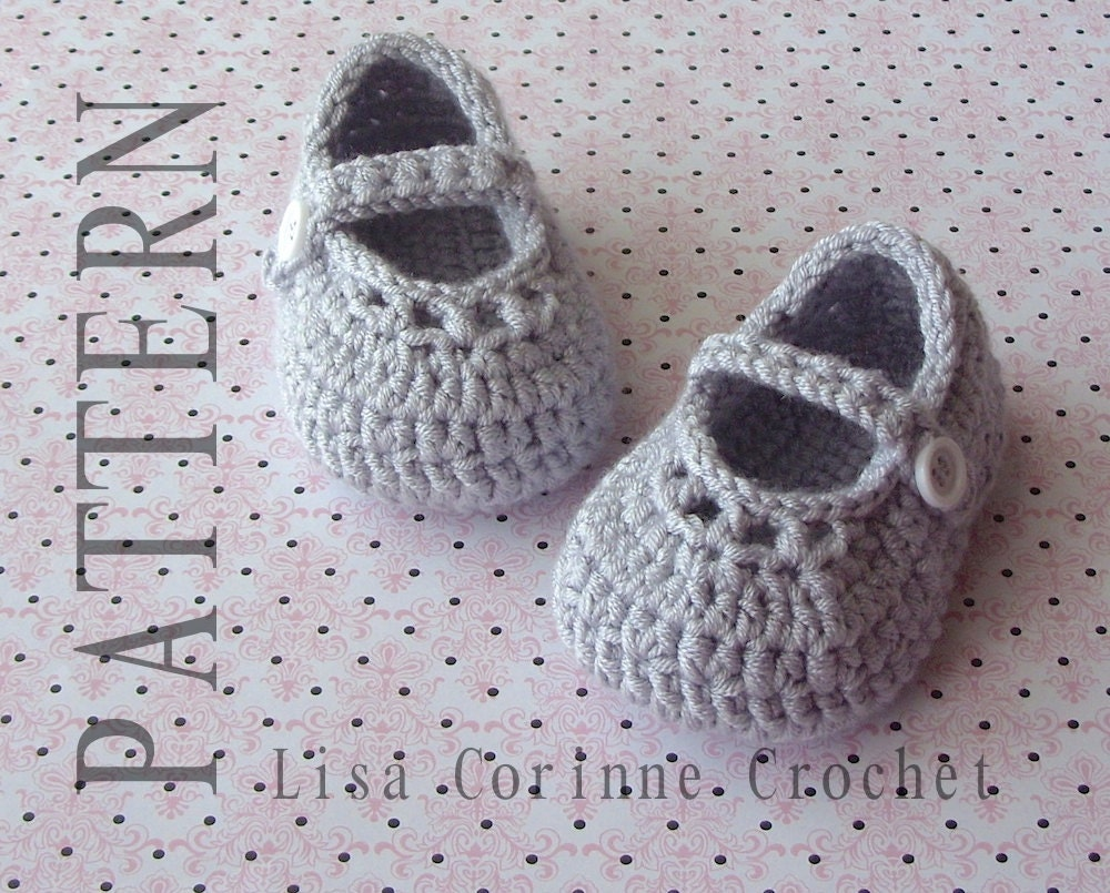 Crochet Baby Booties Pattern Baby Mary Jane Shoes Crochet Etsy