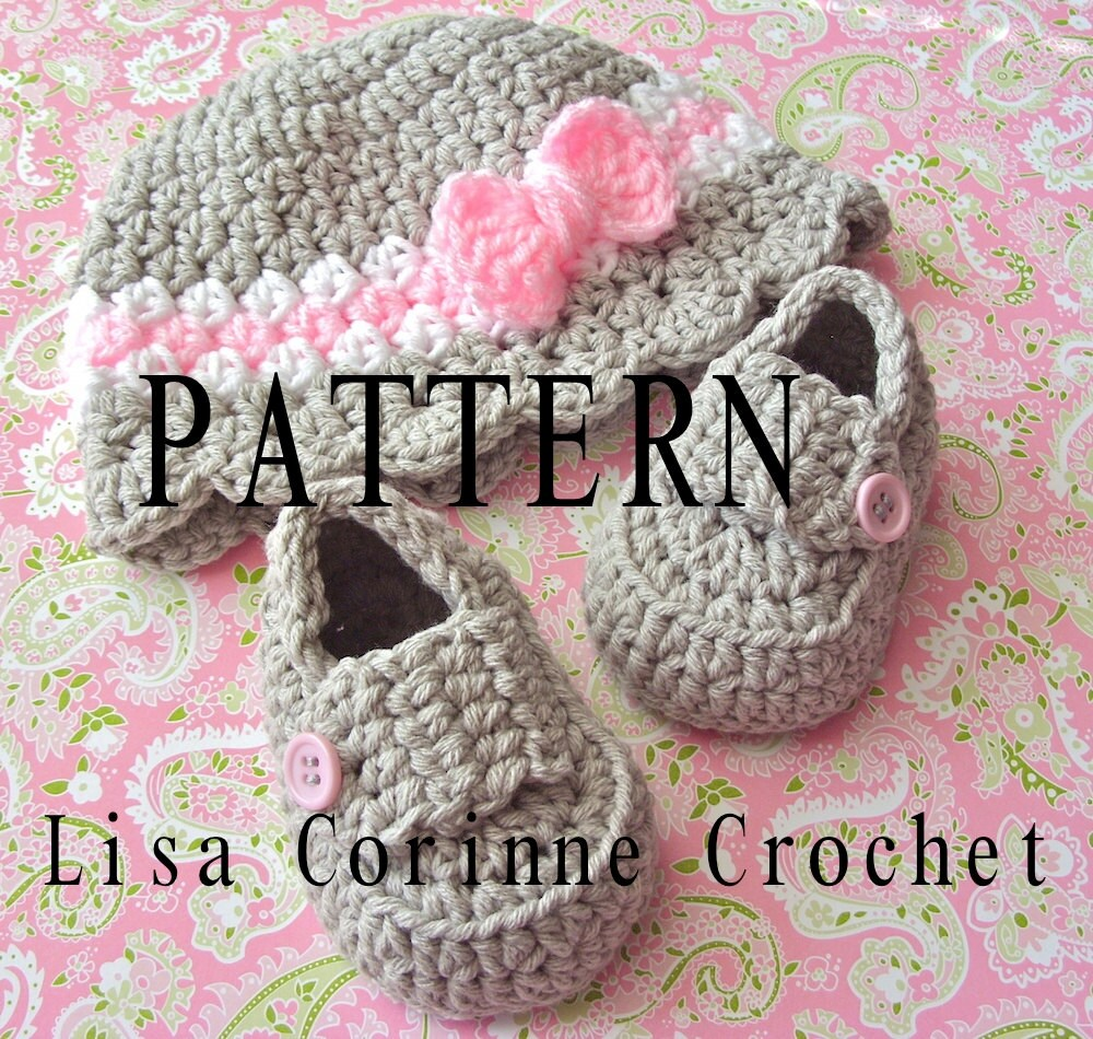 Girl Crochet Baby Hat PATTERNS Baby Loafers Crochet Hat