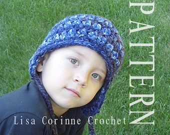 Earflap Hat, Crochet Earflap Hat PATTERN, Winter Hat With Earflaps, Easy Crochet Hat PATTERNS, Boys Hats