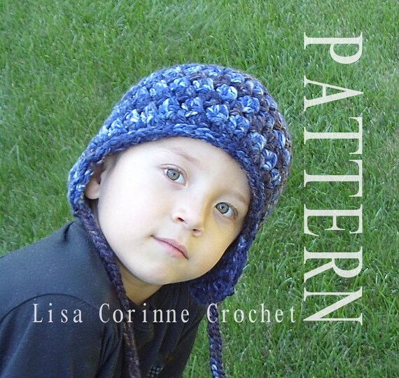 Earflap Hat Crochet Earflap Hat Pattern Winter Hat With Etsy