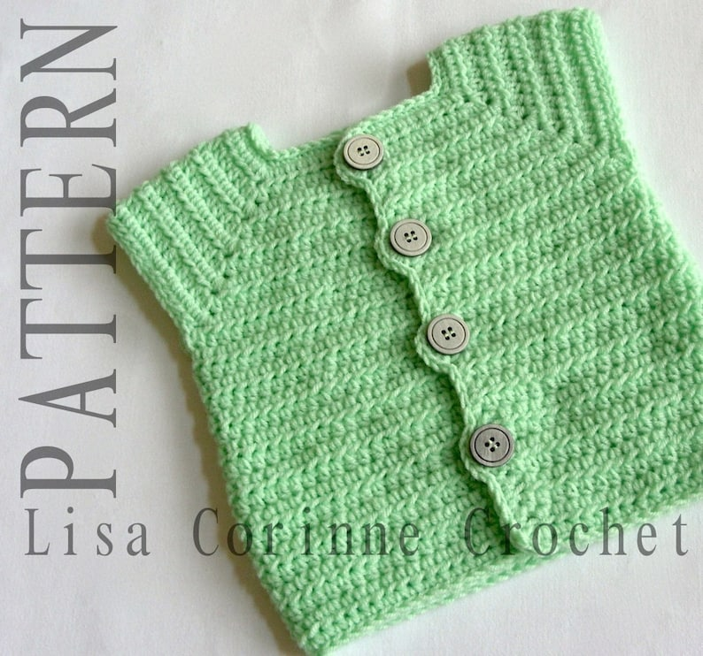 Baby Boy Sweater Vest Crochet Patterns Sweater Vest Pattern Etsy