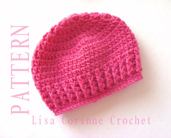 Easy Baby Hat Crochet Pattern Baby Girl Hats Pattern Etsy
