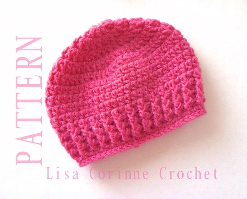 Easy Crochet Baby Hat Pattern Crochet Hat Pattern Instant Etsy