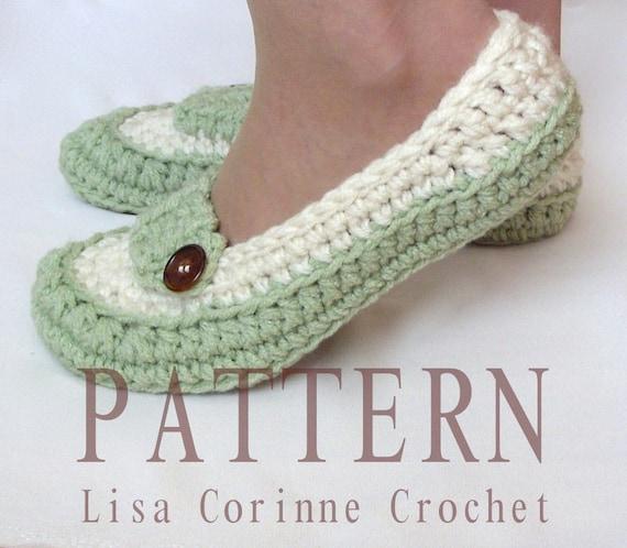 Crochet Slippers Pattern Womens House Slippers Ladies Etsy