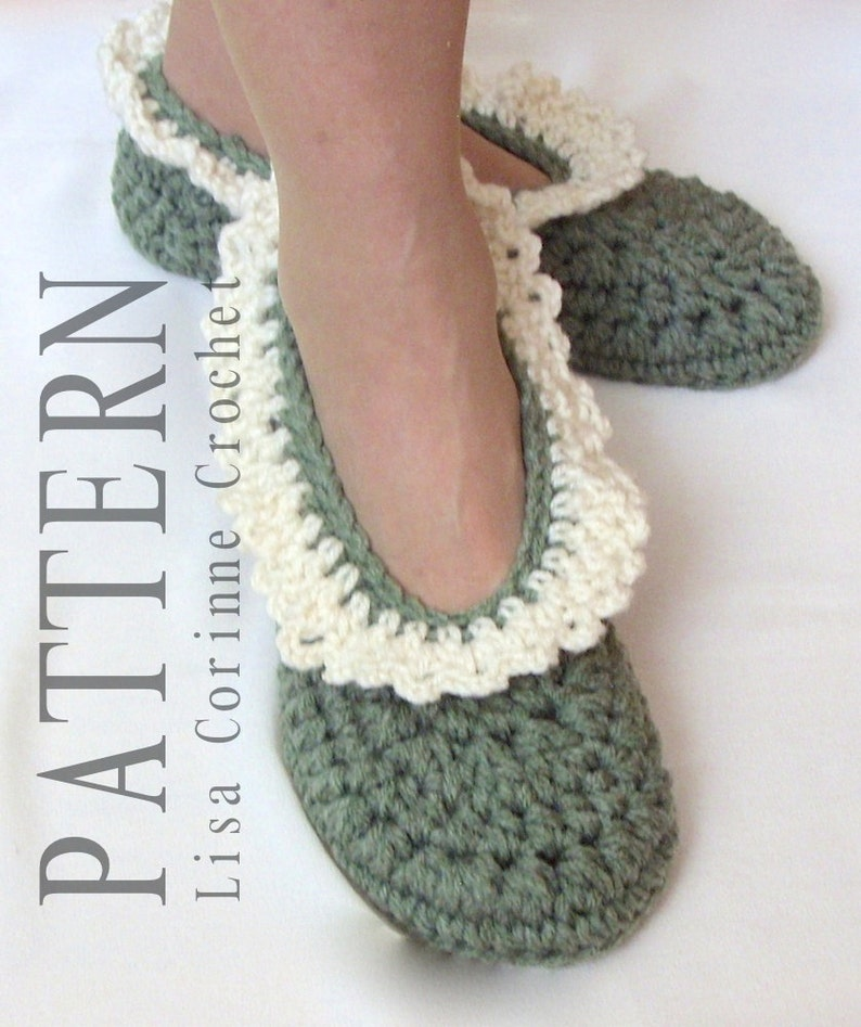 75638117819b0 Womens House Slippers, Crochet Slippers PATTERN, Ladies Slippers, Crochet  Slippers, Women Slippers