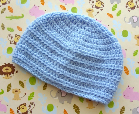 Easy Baby Hat Crochet Pattern Baby Boy Hat Pattern Etsy