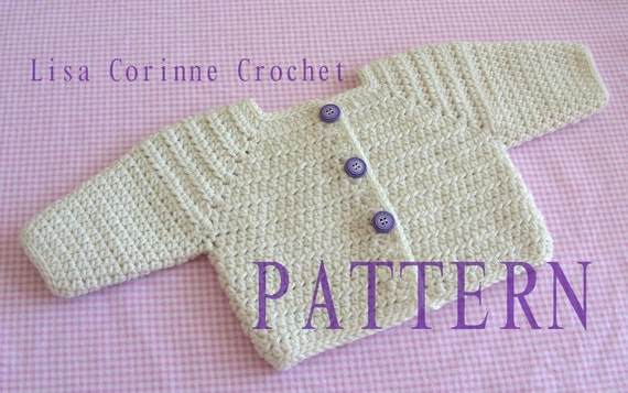 Crochet Sweater PATTERNS, Baby Sweaters, Girls Sweater Jacket, Crochet  Cardigan, Crochet Baby Sweater