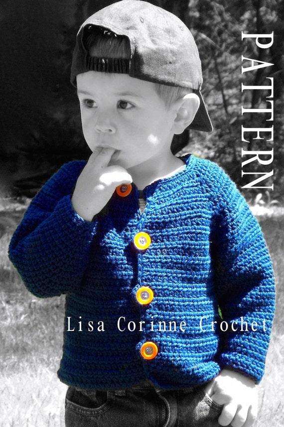 Baby Boy Sweater Crochet Pattern Baby Sweater Pattern Etsy