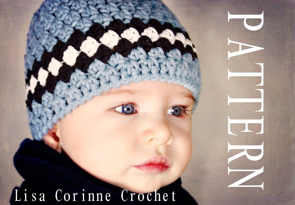 Crochet Hat Pattern Baby Beanie Crochet Pattern For Baby And Etsy