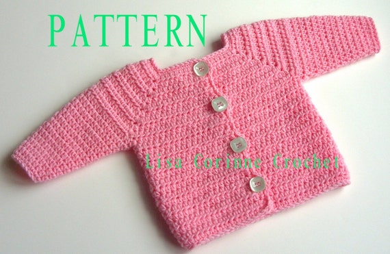 Baby Girl Sweater Crochet Pattern Baby Sweater Pattern Etsy