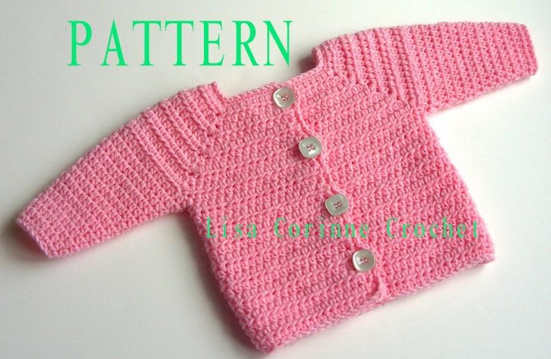 7619d5544 Baby Girl Sweater Crochet PATTERN Baby Sweater PATTERN
