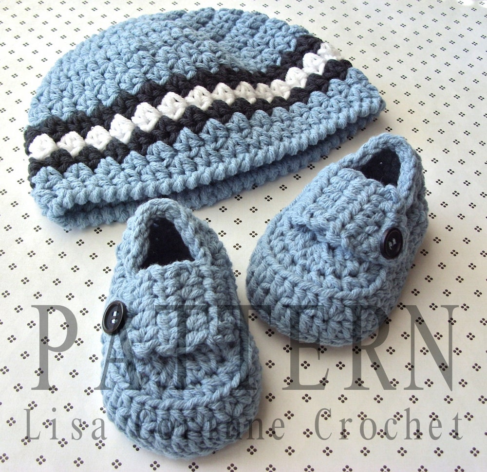831db87d2b565 Crochet Beanie PATTERN Baby Booties Baby Loafers Baby