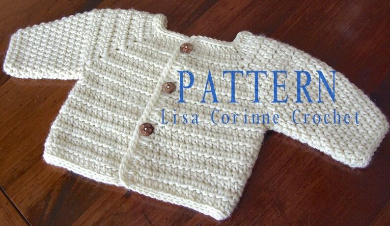 aaf223d70 Baby Sweater PATTERN Baby Boy Crochet Sweater PATTERNS