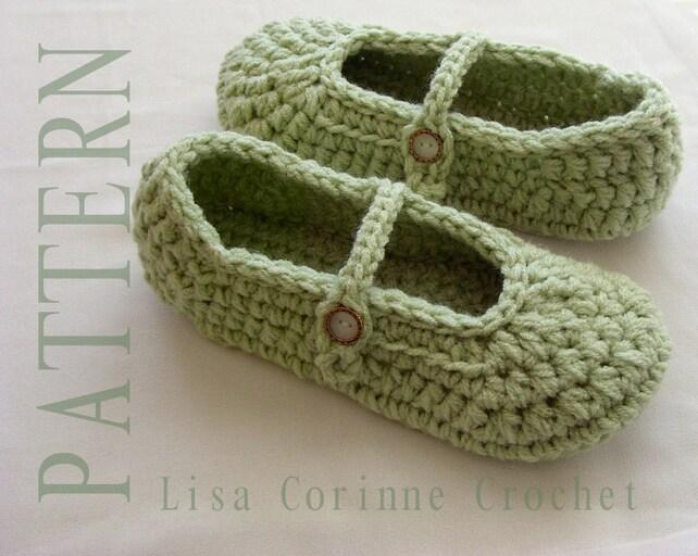 Crochet Slippers Crochet Slippers Pattern Ladies Slippers Etsy