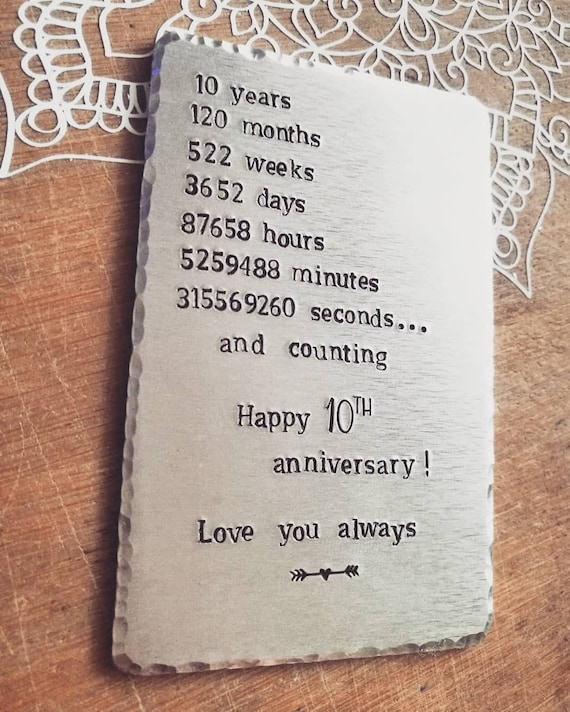 Wedding Anniversary Gift Personalised Wallet Insert Etsy