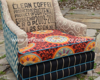 "Custom Order - Vintage Upholstered Chair - ""The Fiesta Chair"""