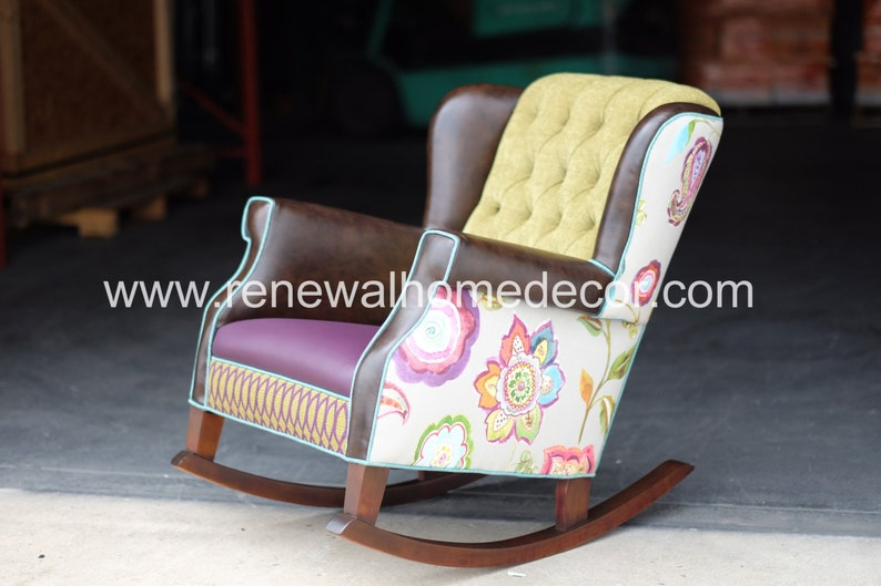 image 0 ... & Upholstered nursery rocking chair custom designed for your | Etsy