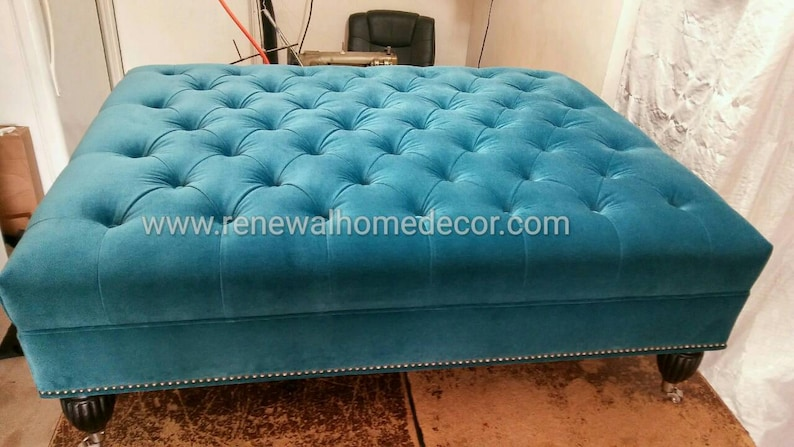 Charmant Custom Order  Upholstered Coffee Table Ottoman. Available For Custom Order  In Any Size. We Can Customize Fabric To Fit Your Needs.