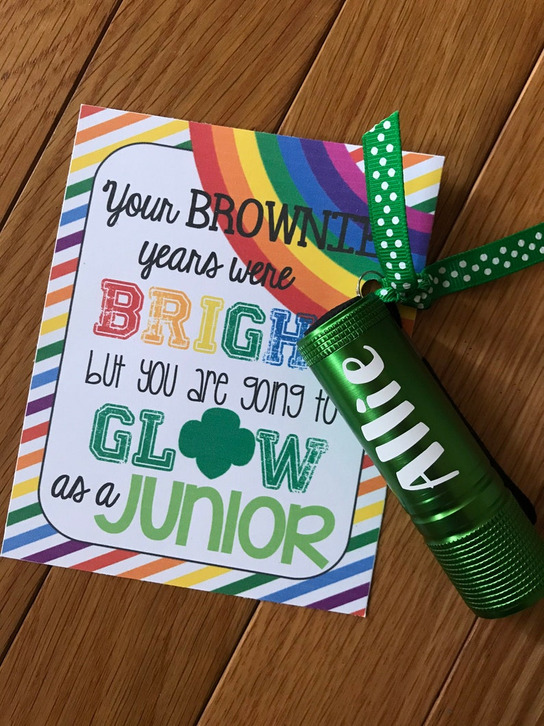 Girl Scout Bridging Personalized Flashlight TAG image 0