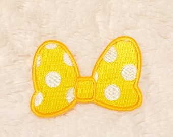 Yellow Bow Iron-on Patch