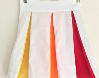 Jolly Holiday Pleated Skirt