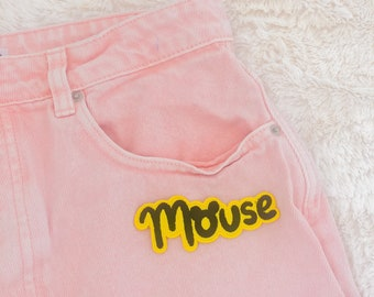 Mouse Iron-on Patch