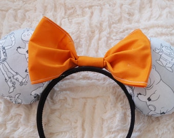 Toy Box Mouse Ears - you choose bow colour