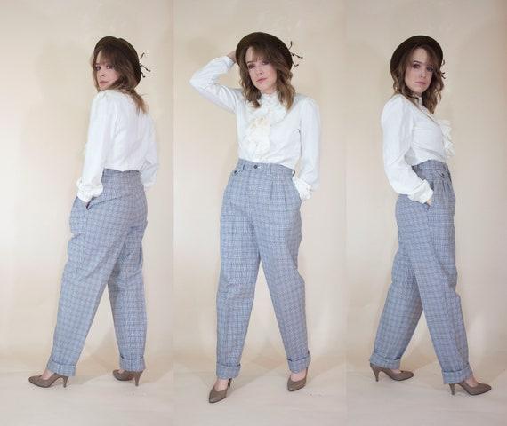 vintage lee plaid trousers pants