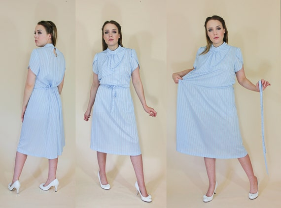 vintage plus size polyester secretary dress 1970s