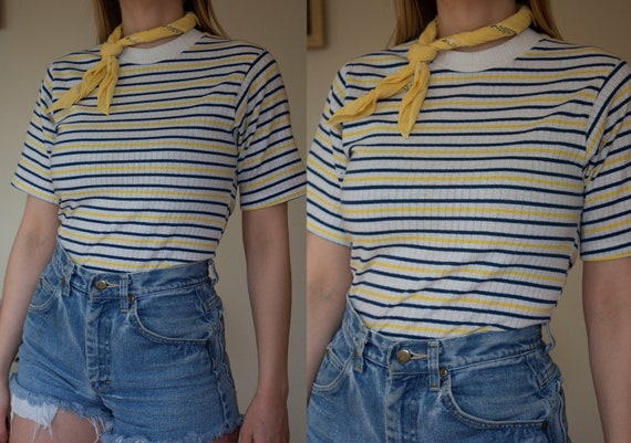 1960s striped t shirt