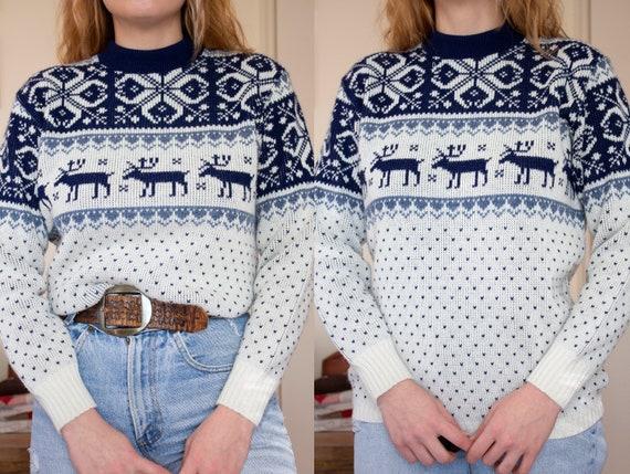 vintage 1960s fair isle sweater