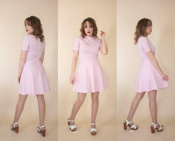 vintage 1960s skater skirt mini dress