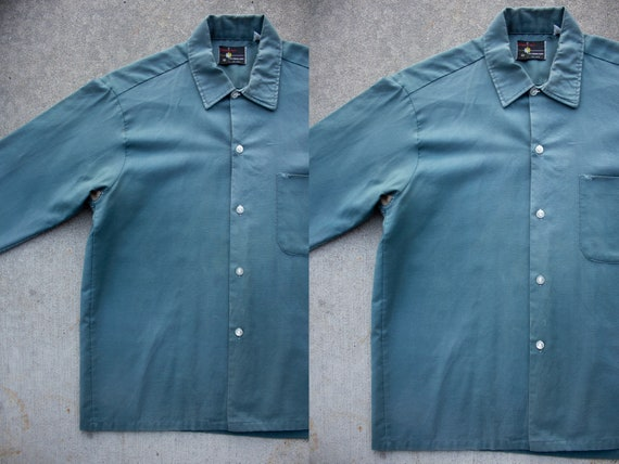 vintage 1950s mended sun faded gabardine cotton wo