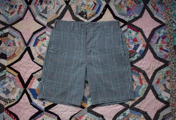 vintage 1950s plaid bermuda shorts