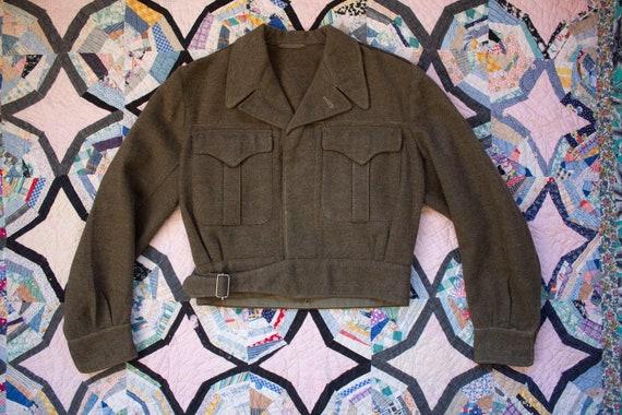vintage military ike jacket field 1940s wwii