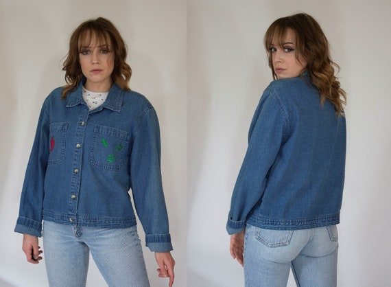 vintage denim chore jacket 1990s