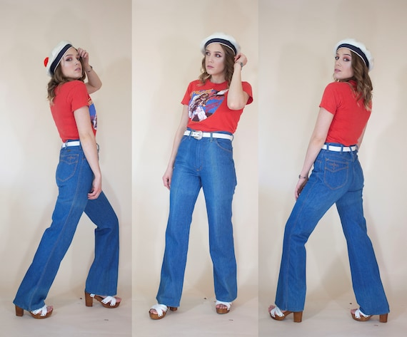1970s maverick faded jeans