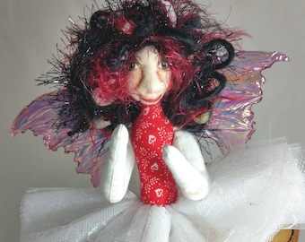 Art Doll-Reba the Sprite OOAK Cloth Doll Faery