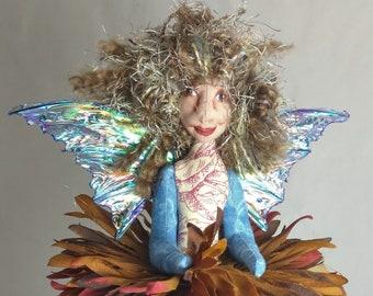 Art Doll-Jacquel the Sprite OOAK Cloth Doll Faery