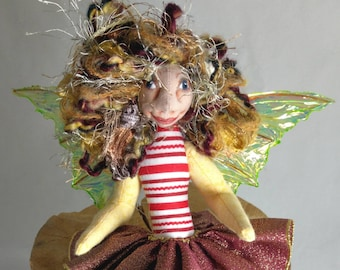 Art Doll-Sheyra the Sprite OOAK Cloth Doll Faery