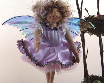 SALE! Art Doll-Freyde the Small Faery OOAK Cloth Doll Faery