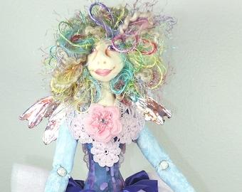 Art Doll-Dione the Faery OOAK Cloth Doll