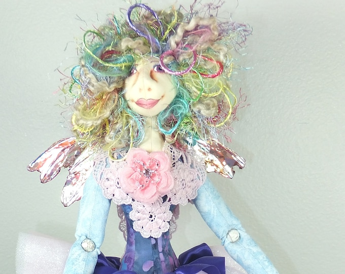 Art Doll-Dione the Faery OOAK Cloth Doll