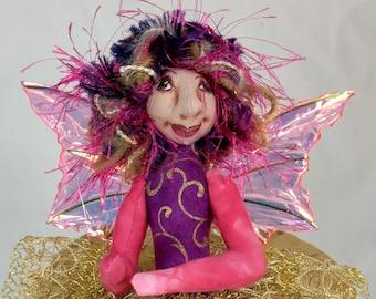 Art Doll-Rini the Sprite OOAK Cloth Doll Faery