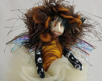 Pocket Pixie-Halloween Themed OOAK Art Doll