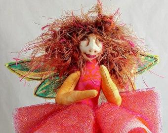 Art Doll-Jala the Sprite OOAK Cloth Doll Faery