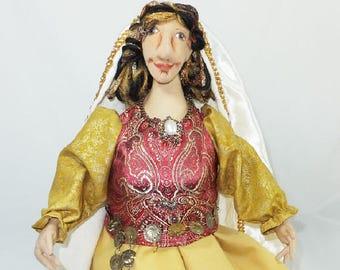 Art Doll-Sophia the Great Generation Cloth Doll, OOAK Doll, Handmade Doll, Collector Doll