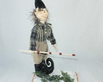Art Doll-Daryl the Elf OOAK Cloth Doll