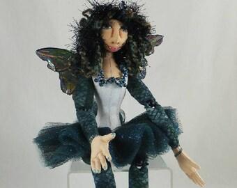 Art Doll-Sloan the Faery OOAK Cloth Doll